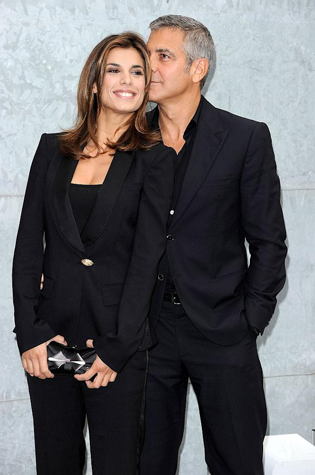 "Also in Milan? Silver fox George Clooney and his Italian gal pal Elisabetta Canalis, who got up close and personal outside the Giorgio Armani Spring/Summer 2011 show. Venturelli/<a href=""http://www.wireimage.com"" target=""new"">WireImage.com</a> - September 27, 2010"