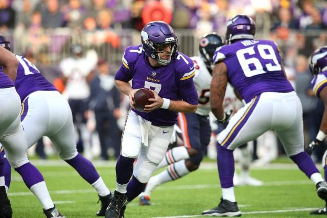 The Vikings have progressed to the playoffs on the back of an unlikely hero, quarterback Case Keenum, who started as understudy to Sam Bradford but has shone since coming into the team (AFP Photo/Adam Bettcher)