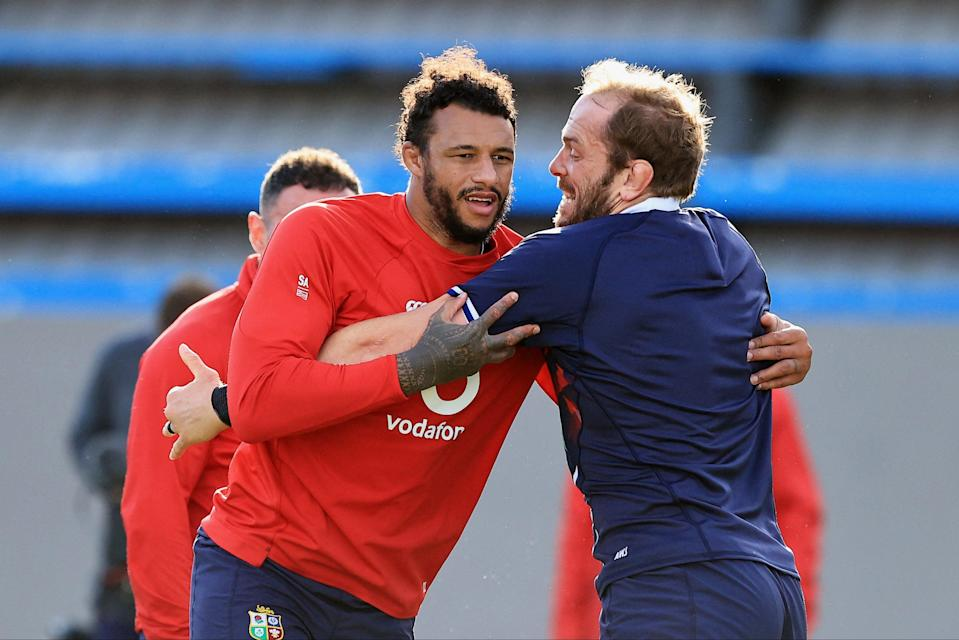 Courtney Lawes and Alun Wyn Jones (POOL/AFP via Getty Images)