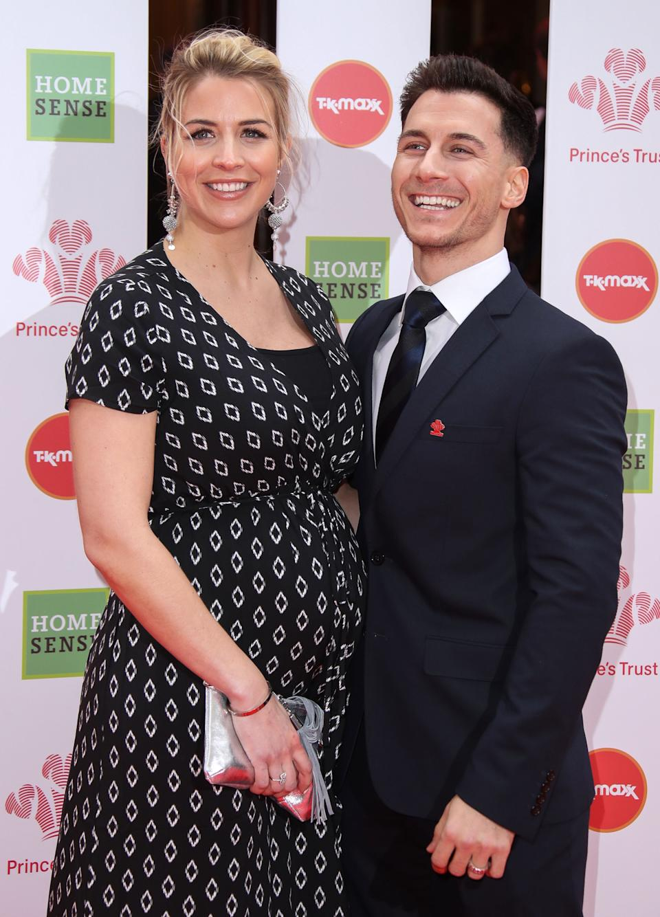LONDON, ENGLAND - MARCH 13: Gemma Atkinson and Gorka Marquez attend The Prince's Trust, TKMaxx and Homesense Awards at The Palladium on March 13, 2019 in London, England. (Photo by Mike Marsland/ Mike Marsland/WireImage)