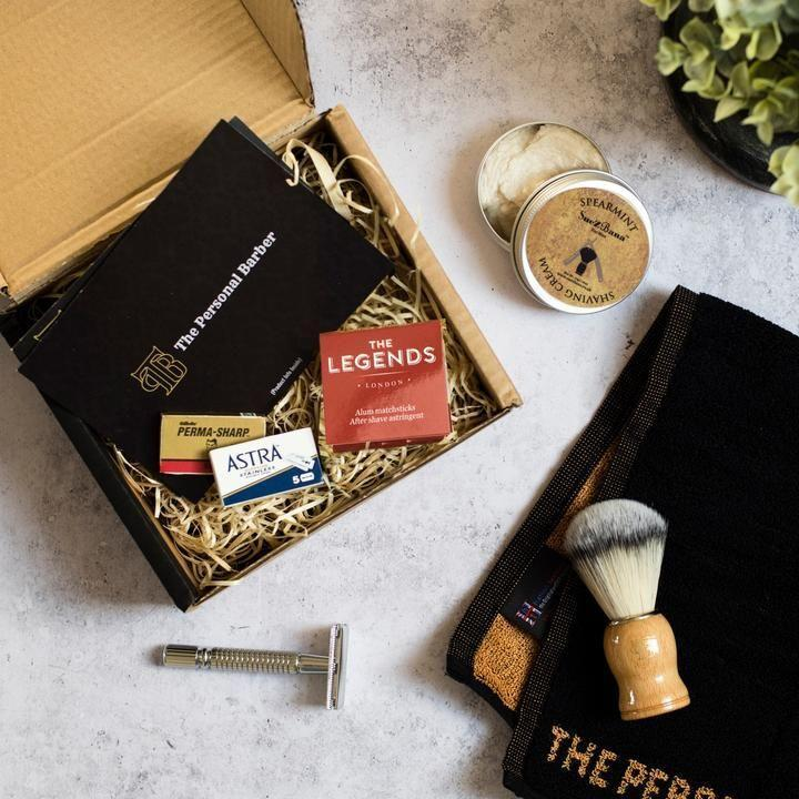 """<p>With professional wet shaves fully booked for the foreseeable, the next best thing comes courtesy of the Personal Barber. Its Discovery Shaving Box offers a premium edit of barber-approved wet shaving goods, delivered straight to your door every six weeks. The first box includes the brand's signature safety razor and shaving brush, plus soap, pre-shave oil, 10 replacement blades and styptics. It's all very lovely looking indeed. </p><p>From £24.95, <a href=""""https://thepersonalbarber.com/products/discovery-shaving-box"""" rel=""""nofollow noopener"""" target=""""_blank"""" data-ylk=""""slk:the Personal Barber"""" class=""""link rapid-noclick-resp"""">the Personal Barber</a>.</p>"""