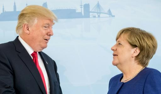 Trump und Merkel in Hamburg