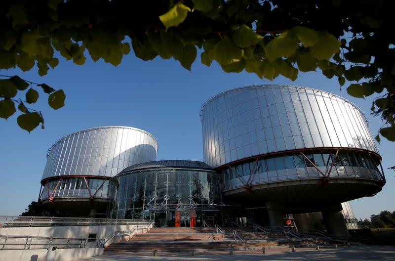 FILE PHOTO: The building of the European Court of Human Rights in Strasbourg