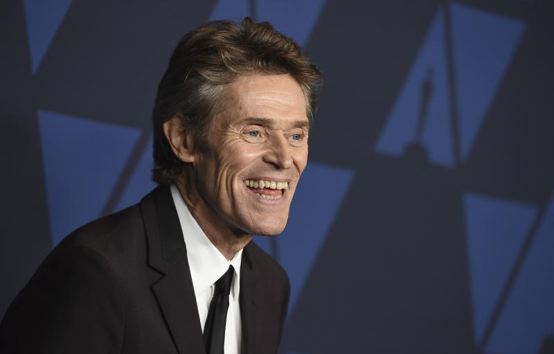Willem Dafoe arrives at the Governors Awards on Sunday, Oct. 27, 2019, at the Dolby Ballroom in Los Angeles. (Photo by Jordan Strauss/Invision/AP)