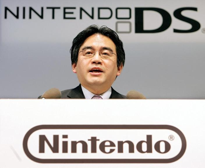 Satoru Iwata, who started off as a programmer, took the top post at Nintendo in 2002, two years after joining the firm (AFP Photo/Toru Yamanaka)