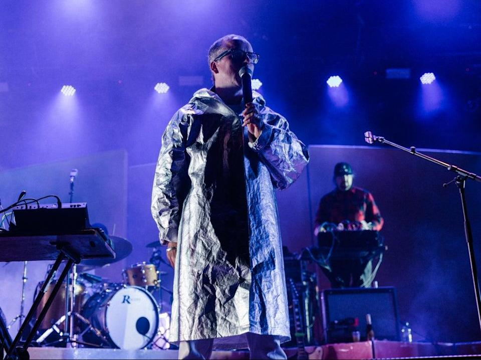 Alexis Taylor of Hot Chip performing at End of the Road festival (Rachel Juarez-Carr)