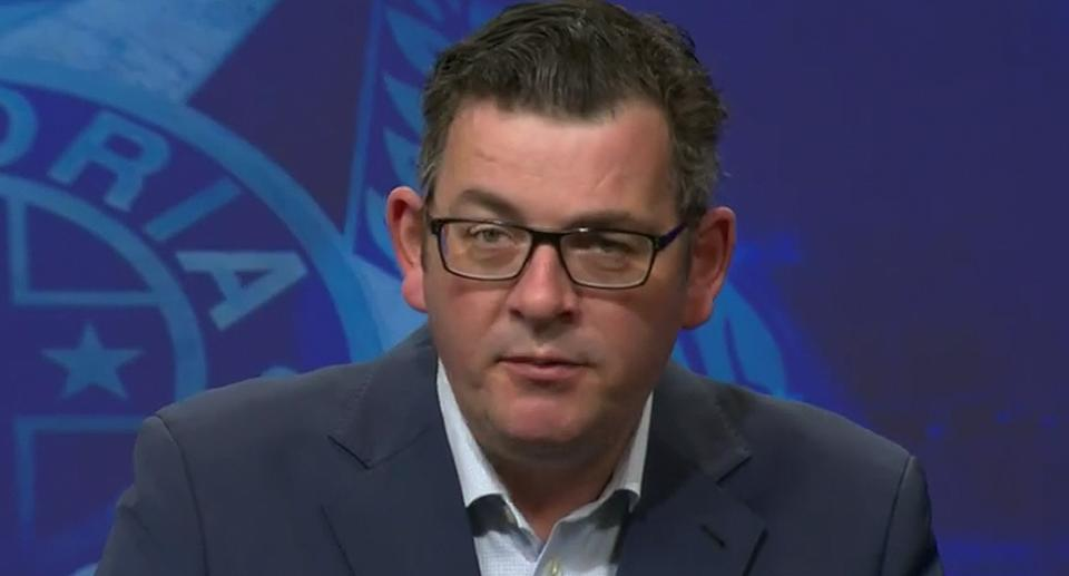 Premier Daniel Andrews has hit out at the 'ugly' scenes of the protests yesterday. Source: ABC