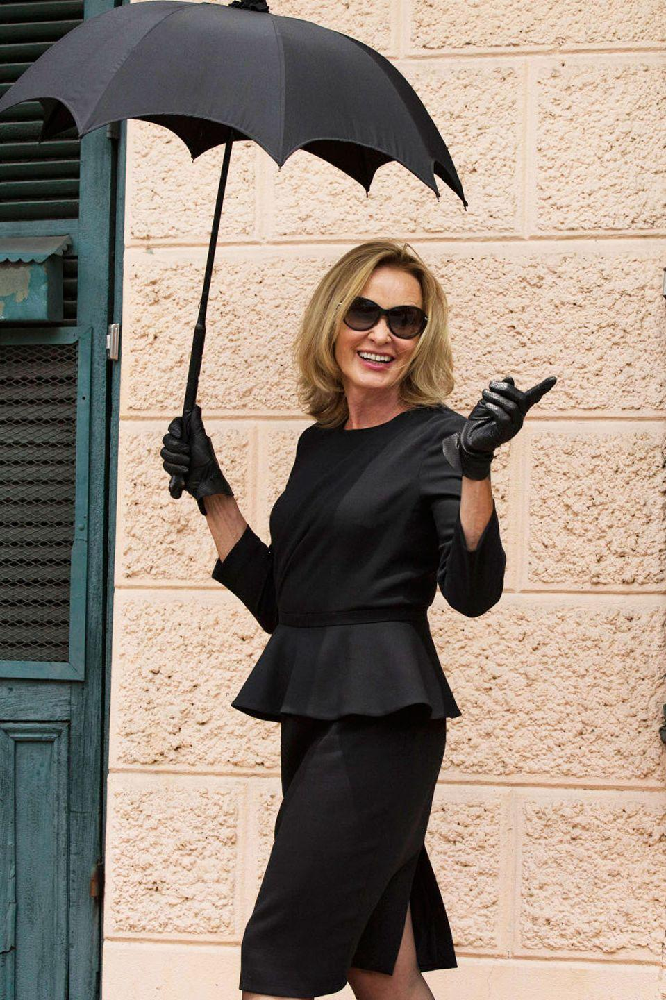 """<p>Get ready for the ultimate last-minute witch costume: Fiona Goode from <em>American Horror Story: Coven</em>. If you have a black shirt and skirt in your closet already, you'll just need gloves and an umbrella!</p><p><a class=""""link rapid-noclick-resp"""" href=""""https://www.amazon.com/Parade-Gloves-Costume-Jewelry-Inspection/dp/B07QXN2PDH/?tag=syn-yahoo-20&ascsubtag=%5Bartid%7C2164.g.37050429%5Bsrc%7Cyahoo-us"""" rel=""""nofollow noopener"""" target=""""_blank"""" data-ylk=""""slk:SHOP BLACK GLOVES"""">SHOP BLACK GLOVES</a></p><p><a class=""""link rapid-noclick-resp"""" href=""""https://www.amazon.com/Premium-Stretch-Pencil-Skirt-Women/dp/B071YVPSQX/?tag=syn-yahoo-20&ascsubtag=%5Bartid%7C2164.g.37050429%5Bsrc%7Cyahoo-us"""" rel=""""nofollow noopener"""" target=""""_blank"""" data-ylk=""""slk:SHOP BLACK PENCIL SKIRTS"""">SHOP BLACK PENCIL SKIRTS</a></p><p><a class=""""link rapid-noclick-resp"""" href=""""https://www.amazon.com/SOLY-HUX-Womens-Elegant-Blouses/dp/B07VLDJ9BM/?tag=syn-yahoo-20&ascsubtag=%5Bartid%7C2164.g.37050429%5Bsrc%7Cyahoo-us"""" rel=""""nofollow noopener"""" target=""""_blank"""" data-ylk=""""slk:SHOP BLACK PEPLUM TOPS"""">SHOP BLACK PEPLUM TOPS</a></p><p><a class=""""link rapid-noclick-resp"""" href=""""https://www.amazon.com/Kung-Fu-Smith-Victorian-Protection/dp/B018Q826ZY/?tag=syn-yahoo-20&ascsubtag=%5Bartid%7C2164.g.37050429%5Bsrc%7Cyahoo-us"""" rel=""""nofollow noopener"""" target=""""_blank"""" data-ylk=""""slk:SHOP BLACK PARASOLS"""">SHOP BLACK PARASOLS</a></p>"""