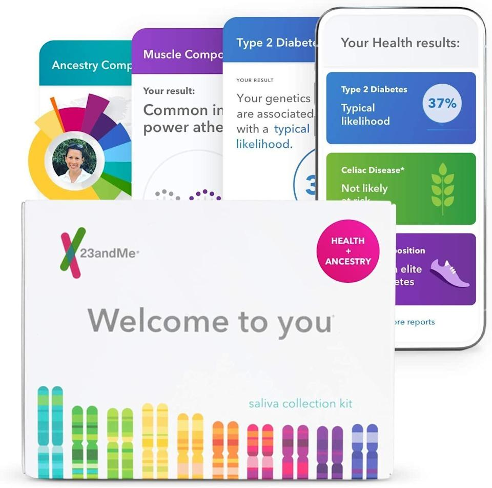 "Get the 23andMe DNA kit for <a href=""https://amzn.to/3iYn2no"" target=""_blank"" rel=""noopener noreferrer"">$100 on Amazon</a> this Prime Day. (Photo: Amazon)"