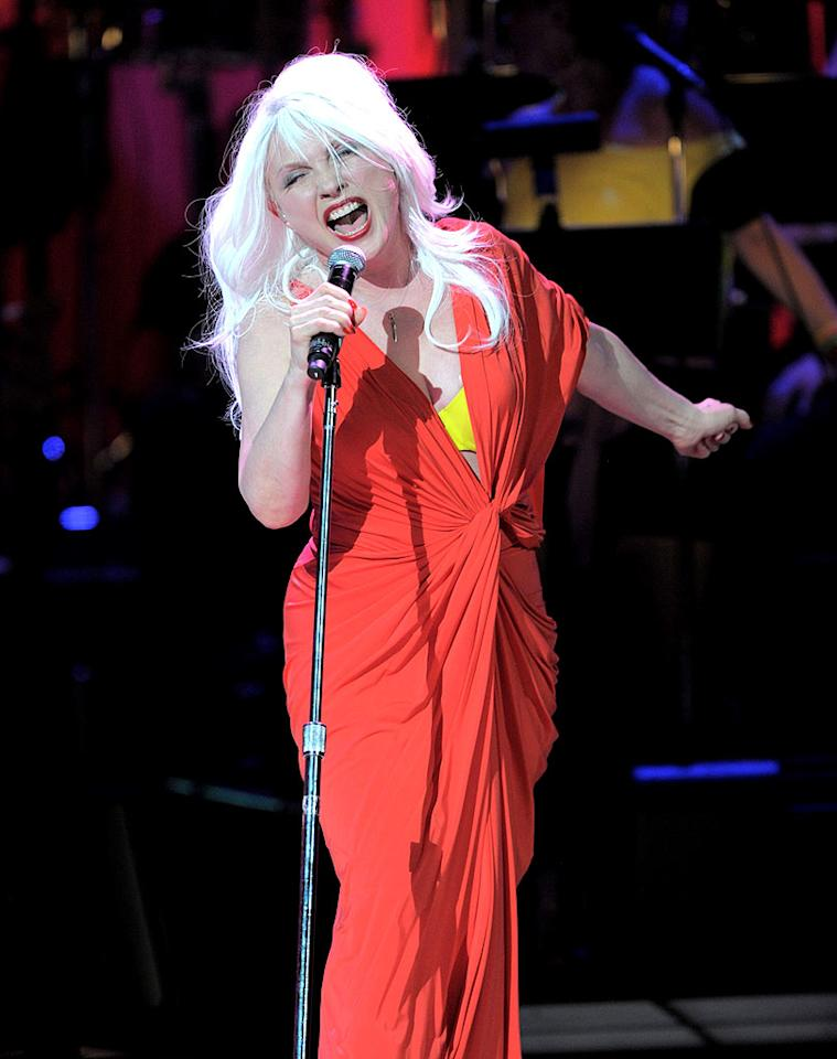 """The night's theme was revisiting the 1980s, and Debbie Harry took the crowd on a nostalgia trip when she performed """"Call Me"""" and """"The Tide Is High,"""" both of which were released in 1980. Kevin Mazur/<a href=""""http://www.wireimage.com"""" target=""""new"""">WireImage.com</a> - May 13, 2010"""