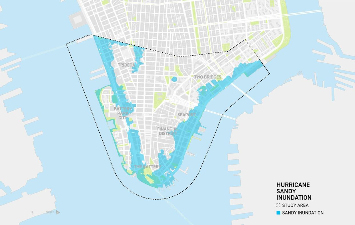 New York Subway Map 2100.Can Lower Manhattan Survive Climate Change New York S Seal Level