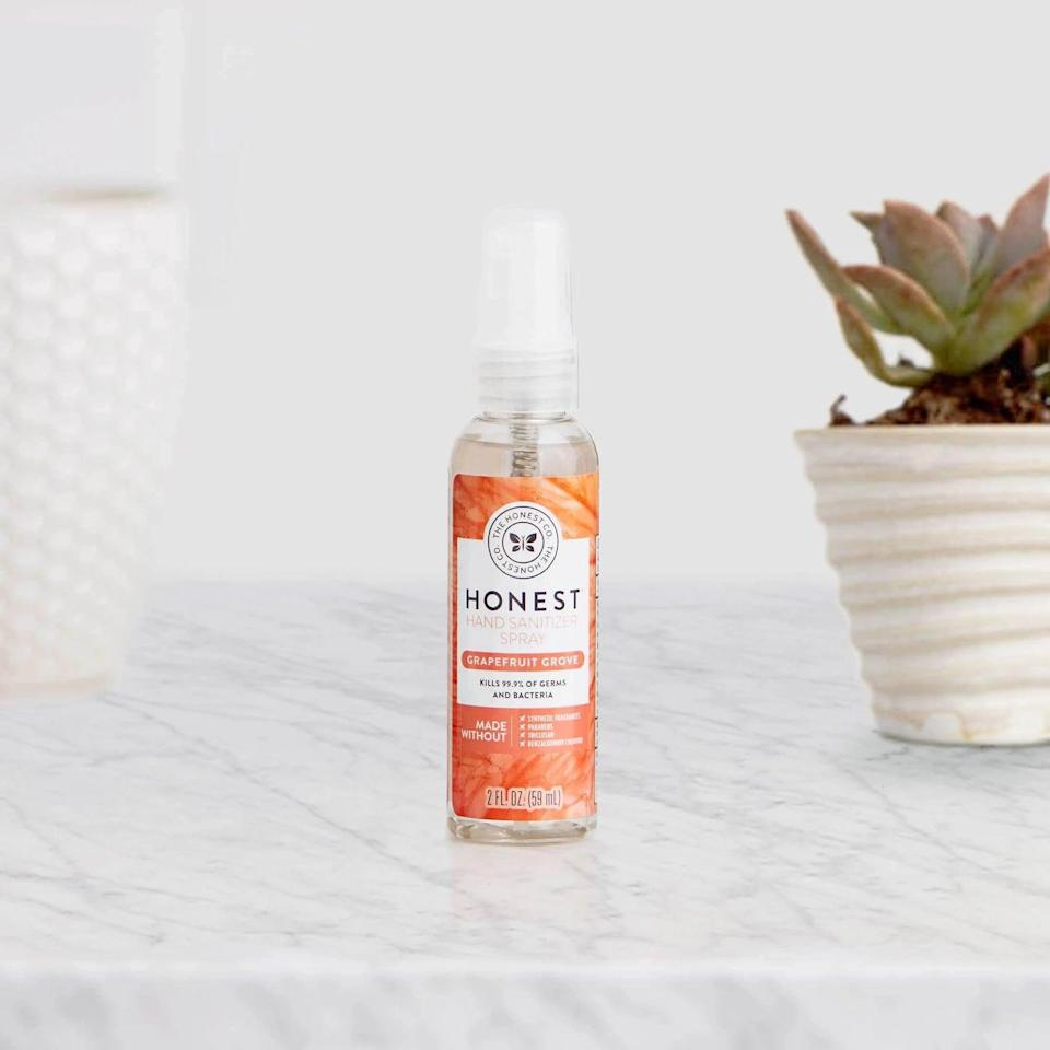 <p><span>The Honest Company 2 oz. Hand Sanitizer Spray</span> ($3) smells like grapefruit and kills kills 99.9 percent of germs and bacteria.</p>