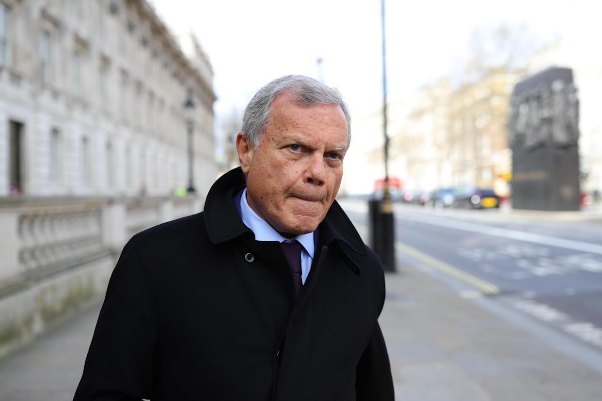 Businessman Sir Martin Sorrell arrives at the Cabinet Office, London, ahead of a meeting of the Government's emergency committee Cobra to discuss coronavirus.