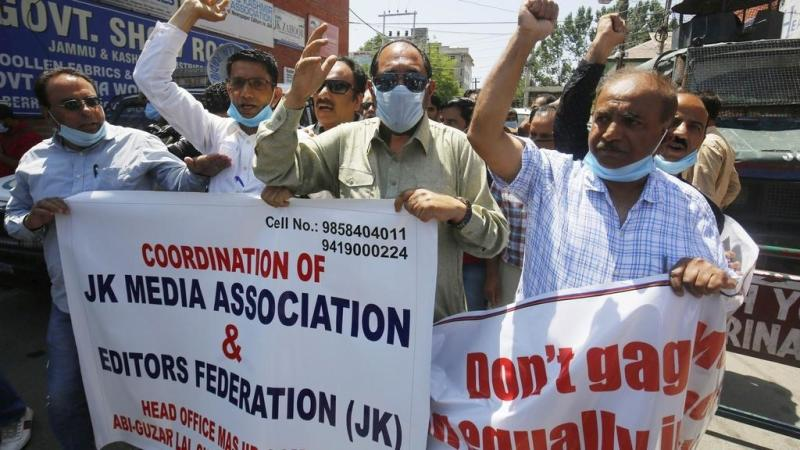Kashmir journalists protest against 'stifling' new media policy