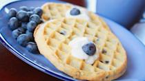 <p><strong>Cost:</strong> $4.22</p> <p>Healthy frozen breakfasts are harder to find than dinners, but Kashi's frozen blueberry waffles are a shining exception. Made with the company's blend of seven whole grains, two waffles offer up 26% of your day's fiber needs and the healthy antioxidants of blueberries, but only 150 calories.</p>