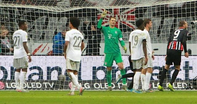 Bayern Munich have a chance to atone for their 5-1 humiliation at Frankfurt in November (AFP Photo/Daniel ROLAND)