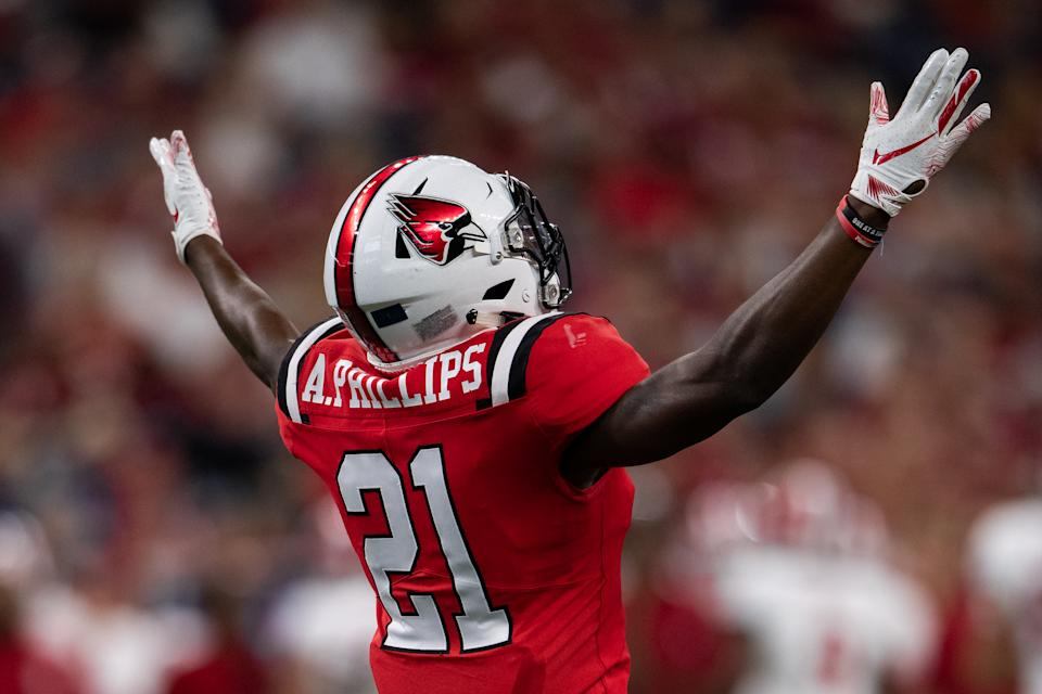 Ball State cornerback Antonio Phillips was robbed of a pro day, but he already proved his speed previously . (Photo by Zach Bolinger/Icon Sportswire via Getty Images)