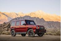 """<p>Mercedes-AMG also gets plenty of use from its twin-turbocharged 4.0-liter V-8. It powers a long list of its sedans and SUVs, including the <a href=""""https://www.caranddriver.com/mercedes-amg/g63-g65-4matic"""" rel=""""nofollow noopener"""" target=""""_blank"""" data-ylk=""""slk:G63"""" class=""""link rapid-noclick-resp"""">G63</a>, the top version of <a href=""""https://www.caranddriver.com/mercedes-benz/g-class"""" rel=""""nofollow noopener"""" target=""""_blank"""" data-ylk=""""slk:Mercedes-Benz's G-class"""" class=""""link rapid-noclick-resp"""">Mercedes-Benz's G-class</a>. In the latest version of the G-wagen, which was just revamped in 2019, the engine is rated 577 horsepower and 627 lb-ft of torque. It works with a nine-speed automatic transmission and powers this leather-lined beast to <a href=""""https://www.caranddriver.com/reviews/comparison-test/a15098561/2017-bentley-bentayga-vs-2016-land-rover-range-rover-svautobiography-comparison-test/"""" rel=""""nofollow noopener"""" target=""""_blank"""" data-ylk=""""slk:60 mph in only 3.8 seconds"""" class=""""link rapid-noclick-resp"""">60 mph in only 3.8 seconds</a> and through the quarter-mile in 12.4 seconds. That makes this the quickest G-class of all time. Did we mention is weighs 5783 pounds?</p><p><a class=""""link rapid-noclick-resp"""" href=""""https://www.caranddriver.com/mercedes-benz/g-class/specs"""" rel=""""nofollow noopener"""" target=""""_blank"""" data-ylk=""""slk:MORE G-CLASS SPECS"""">MORE G-CLASS SPECS</a></p>"""