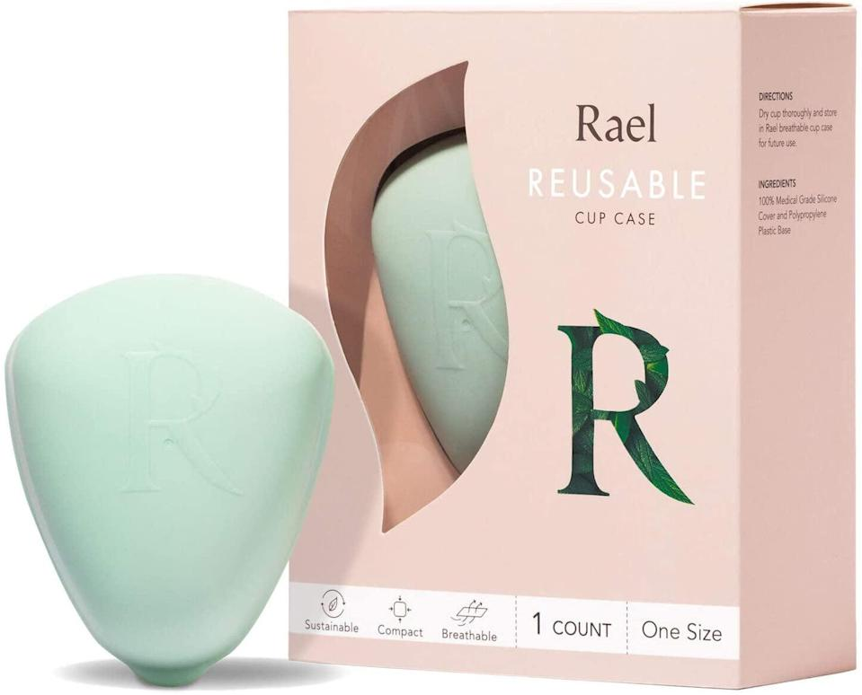 <p>According to the brand, storing your cup properly in this case can prolong the life of your menstrual cup for up to 12 years! (How many boxes of tampons do you think that is?) The <span>Rael Reusable Cup Case</span> ($20) is water resistant and features tiny holes to create a breathable environment for your cup. </p>