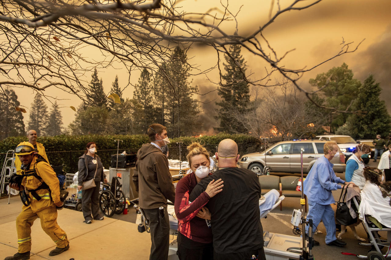 Malibu residents flee massive wildfire, five dead in Northern California