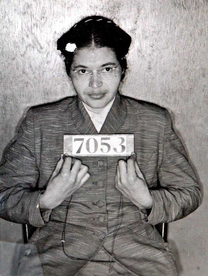 A Montgomery Sheriff's Department booking photo of Rosa Parks.