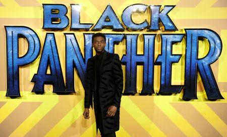 FILE PHOTO - Actor Chadwick Boseman arrives at the premiere of the new Marvel superhero film 'Black Panther' in London
