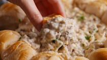 """<p>Ring around the biscuits.<br></p><p>Get the recipe from <a href=""""https://www.countryliving.com/cooking/recipes/a50101/biscuit-and-gravy-ring-recipe/"""" rel=""""nofollow noopener"""" target=""""_blank"""" data-ylk=""""slk:Delish"""" class=""""link rapid-noclick-resp"""">Delish</a>.</p>"""