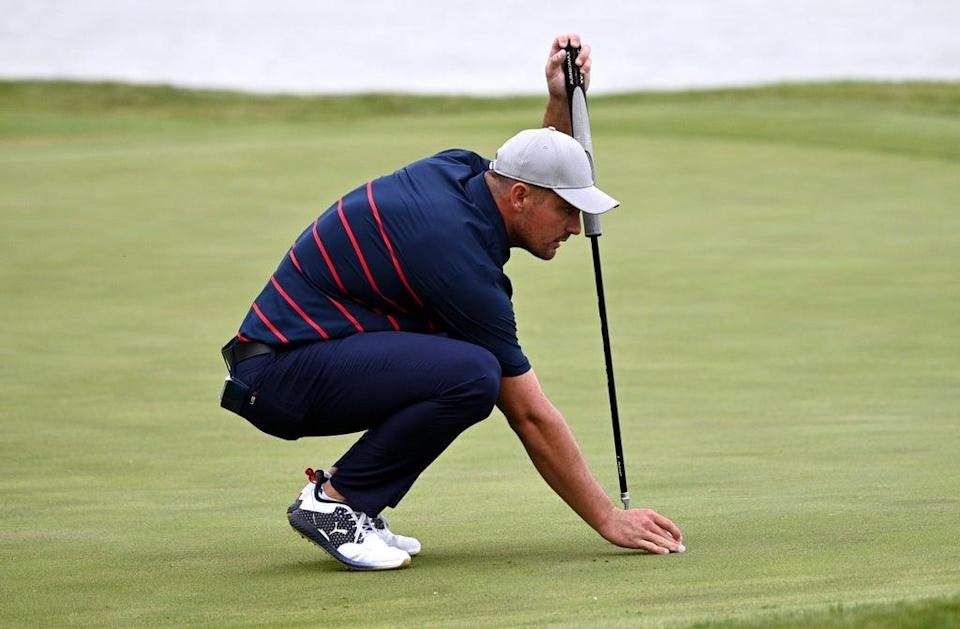 DeChambeau was unhappy at being made to putt (Anthony Behar/PA) (PA Wire)