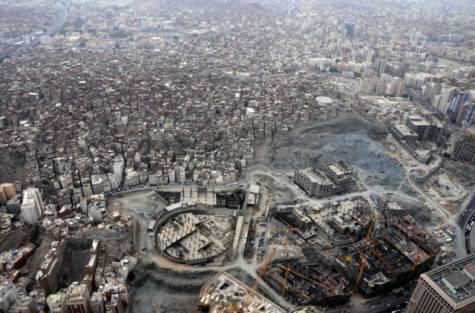 The Jebel Omar development projects next to a slum area in Makkah. Jebel Omar Development Co says it is developing a 230,000 square metre area, of which 52 per cent will be for residential buildings.