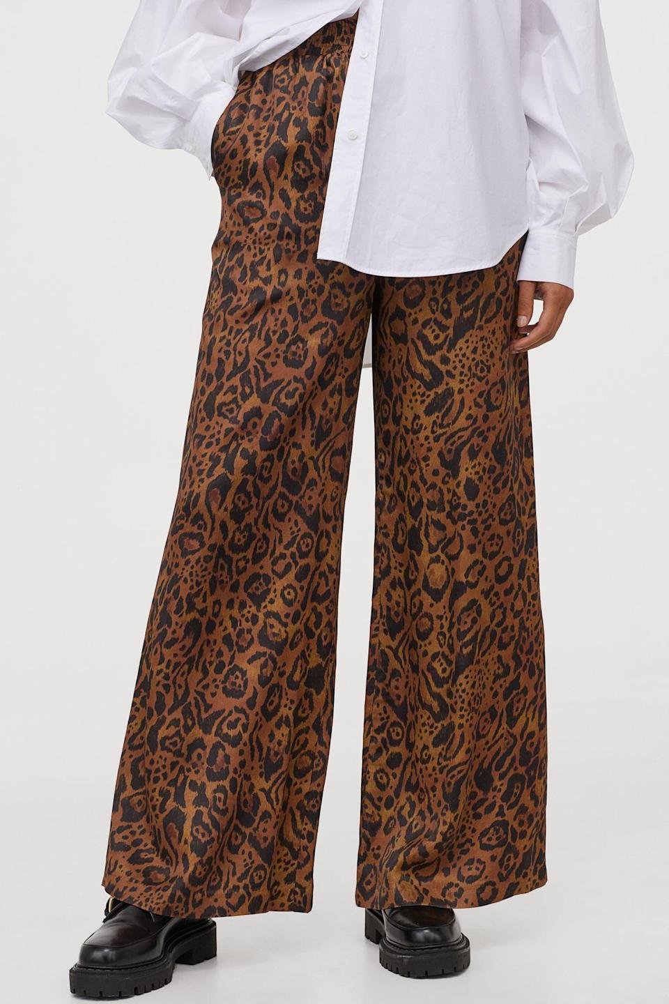 <p>These <span>Wide-cut Satin Pants<br> </span> ($29, originally $50) look bold and elegant all at once.</p>