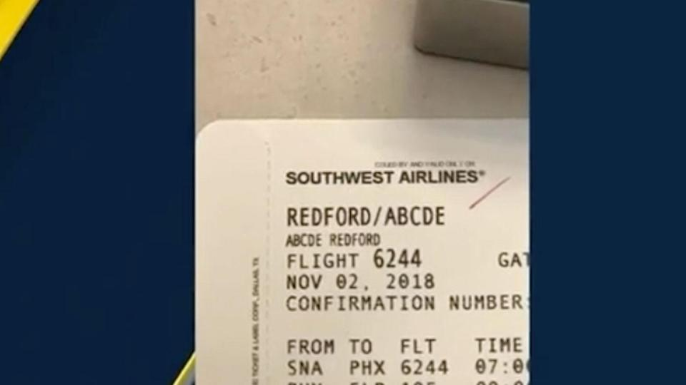 A Texas mum claims Southwest Airlines staff agent 'mocks' girl's Abcde name.