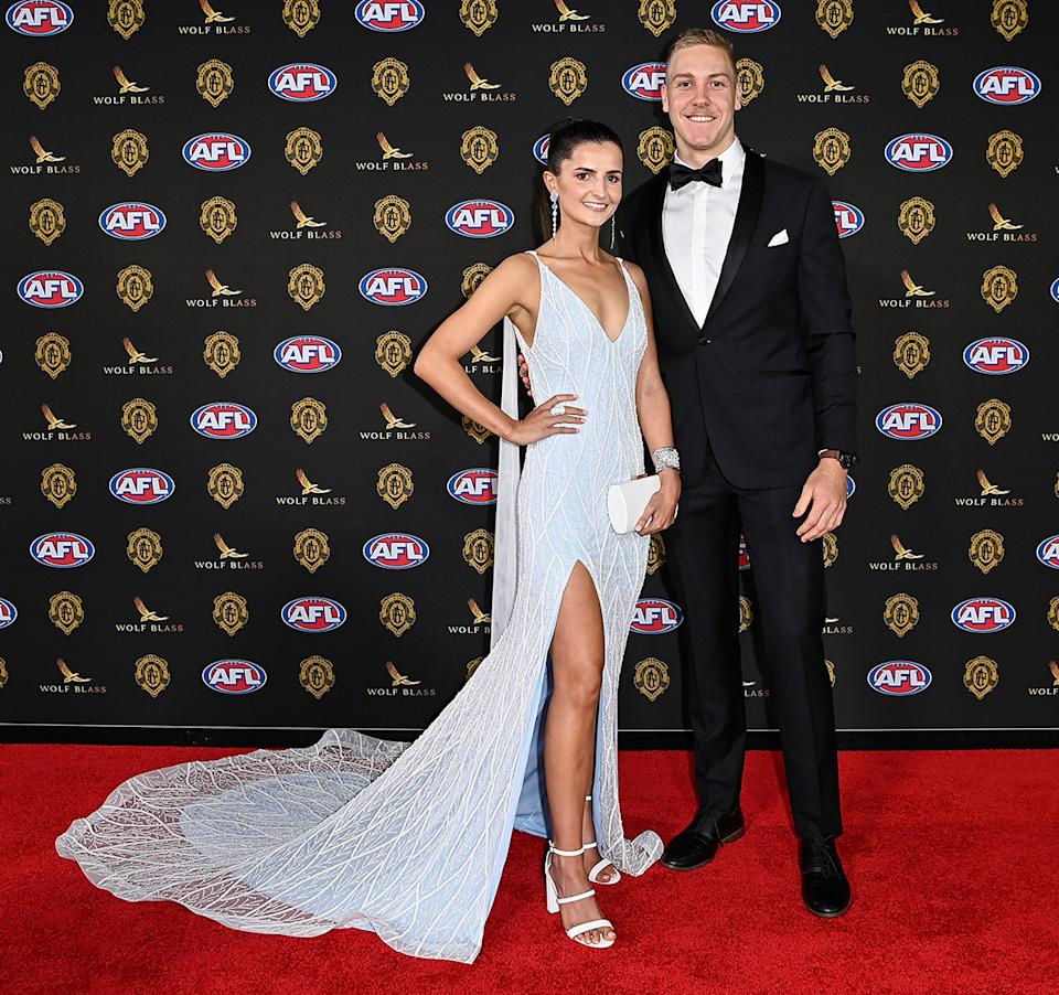 Oscar Allen and Lorna McNabb at the Brownlow Medal 2021