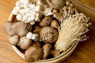 """<p>Mushrooms are widely available all year long, but they peak starting in the fall. Earthy and packed full of vitamin D, mushrooms are a great addition to almost any recipe, but we particularly like them <a href=""""https://www.thedailymeal.com/recipes/sweet-onions-and-mushrooms-skillet-recipe?referrer=yahoo&category=beauty_food&include_utm=1&utm_medium=referral&utm_source=yahoo&utm_campaign=feed"""" rel=""""nofollow noopener"""" target=""""_blank"""" data-ylk=""""slk:cooked in a skillet"""" class=""""link rapid-noclick-resp"""">cooked in a skillet</a>, in a <a href=""""https://www.thedailymeal.com/recipes/one-pot-mushroom-stronanoff?referrer=yahoo&category=beauty_food&include_utm=1&utm_medium=referral&utm_source=yahoo&utm_campaign=feed"""" rel=""""nofollow noopener"""" target=""""_blank"""" data-ylk=""""slk:delicious stroganoff"""" class=""""link rapid-noclick-resp"""">delicious stroganoff</a> or <a href=""""https://www.thedailymeal.com/creamy-mushroom-risotto-recipe?referrer=yahoo&category=beauty_food&include_utm=1&utm_medium=referral&utm_source=yahoo&utm_campaign=feed"""" rel=""""nofollow noopener"""" target=""""_blank"""" data-ylk=""""slk:on top of a creamy, decadent risotto"""" class=""""link rapid-noclick-resp"""">on top of a creamy, decadent risotto</a>.</p>"""