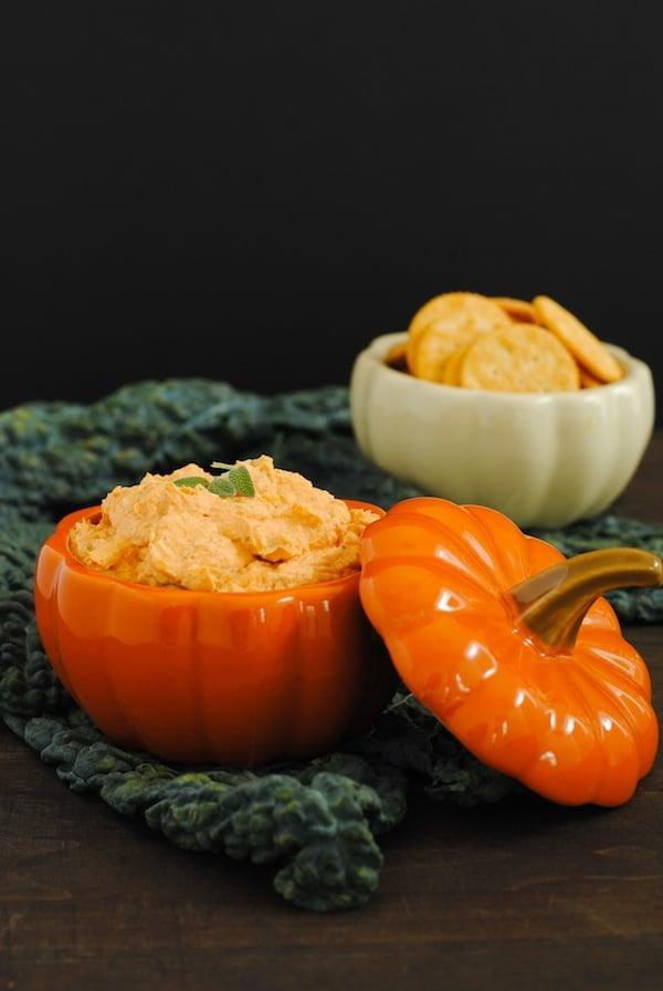 "<p>Cream cheese and pumpkin puree make this enticing dip one to remember. With only seven ingredients, you can whip this up in no time. Serve it chilled or at room temperature for best results.</p> <p><strong>Get the recipe:</strong> <a href=""https://foxeslovelemons.com/creamy-pumpkin-parmesan-dip/"" class=""link rapid-noclick-resp"" rel=""nofollow noopener"" target=""_blank"" data-ylk=""slk:creamy pumpkin parmesan dip"">creamy pumpkin parmesan dip</a></p>"