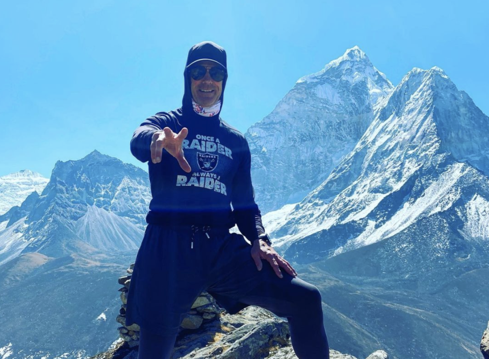 Mark Pattison with Everest in the background. (Courtesy Mark Pattison)