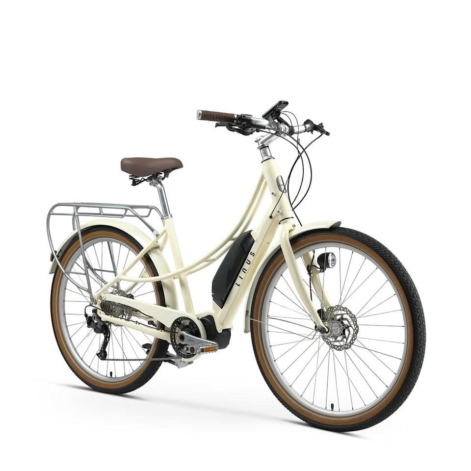 <p>We love the look of this <span>Linus Ember Electric Bike</span> ($2,916), and it also comes in a chic green color.</p>