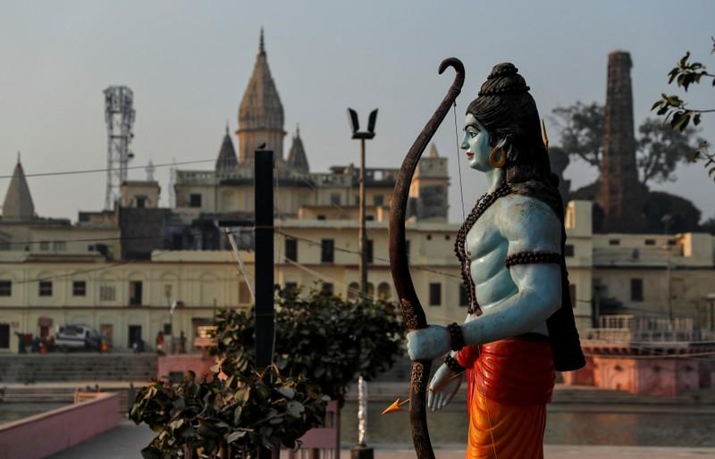 A statue of Hindu Lord Ram is seen after Supreme Court's verdict on a disputed religious site, in Ayodhya