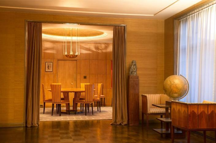 Inside the beautifully restored Saarinen House