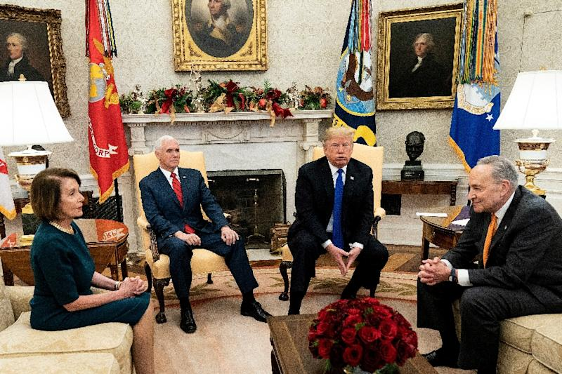 President Donald Trump has stood firm against Democrats as he seeks border wall funding, risking a partial government shutdown if a compromise is not reached by December 21, 2018 (AFP Photo/Brendan Smialowski)