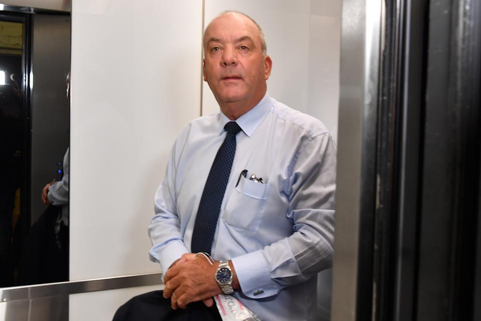 Daryl Maguire arrives at the Independent Commission Against Corruption hearing in Sydney, Friday, October 16, 2020.