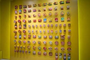 The wall of instant noodles. Photo: Carolyn Teo/Coconuts