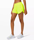 """""""I prefer a slightly longer short for super hot and long outdoor runs, and these five-inch Lululemons are my go-to. They don't ride up and they come in really fun colors!"""" - <em>W.C.</em> $58, Lululemon. <a href=""""https://shop.lululemon.com/p/women-shorts/Track-That-Short-5/_/prod9270813?color=47184"""" rel=""""nofollow noopener"""" target=""""_blank"""" data-ylk=""""slk:Get it now!"""" class=""""link rapid-noclick-resp"""">Get it now!</a>"""