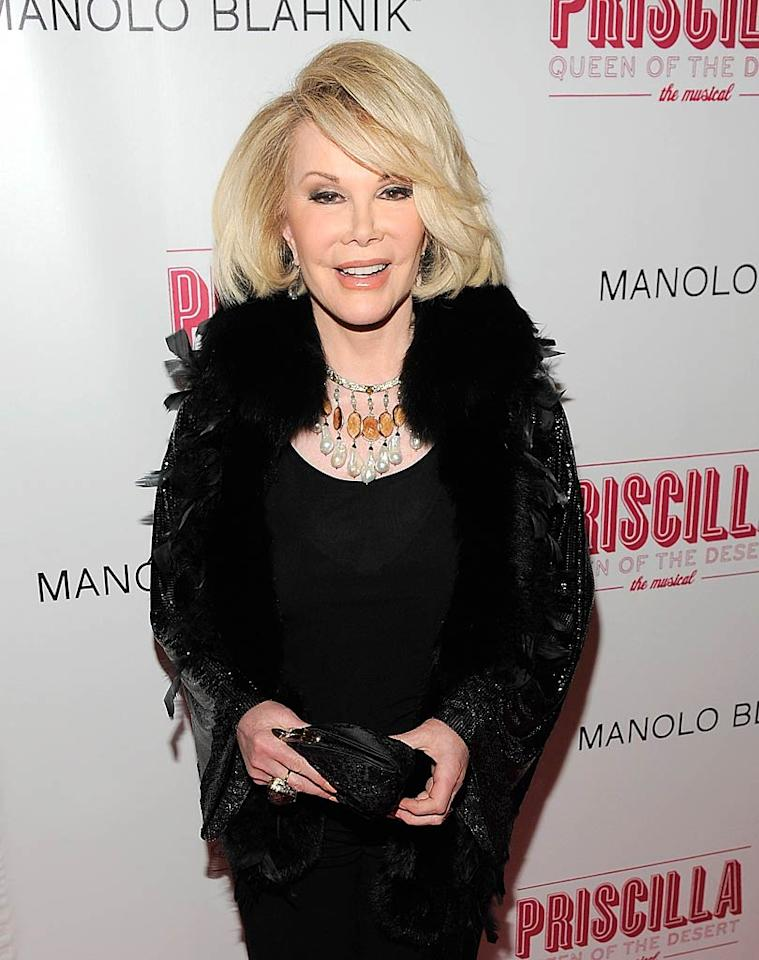"Funny lady Joan Rivers turns 78 Jemal Countess/<a href=""http://www.gettyimages.com/"" target=""new"">GettyImages.com</a> - March 20, 2011"