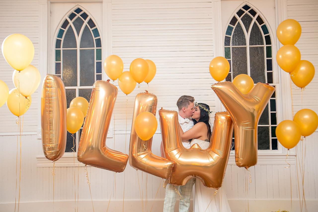 """<p>#ILLWY (""""I love laundry with you,"""" <a href=""""https://www.popsugar.com/love/Modern-Outdoor-Quaker-Wedding-36511524"""" class=""""ga-track"""" data-ga-category=""""Related"""" data-ga-label=""""https://www.popsugar.com/love/Modern-Outdoor-Quaker-Wedding-36511524"""" data-ga-action=""""In-Line Links"""">get the story here</a>)<br> #NewlywedsontheBlock<br> #BecomingtheBotkins</p>"""