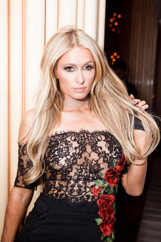 <p>Paris Hilton at Purple Magazine's 25th Anniversary on Top of the Standard, New York City, NY. (Photo: BFA) </p>