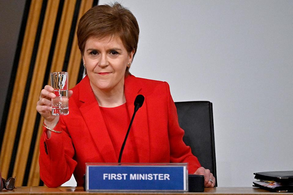First Minister Nicola Sturgeon was questioned for eight hours by MSPs on the Committee on the Scottish Government Handling of Harassment Complaints (Jeff J Mitchell/PA)