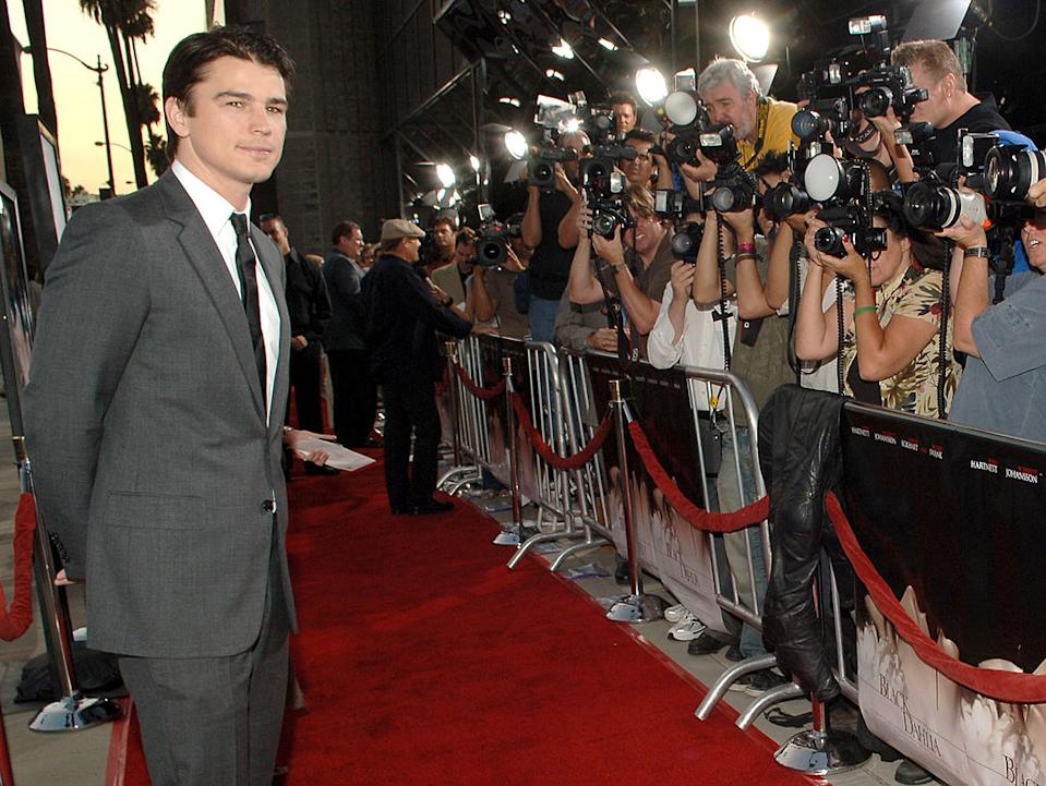 "Josh Hartnett attends the ""Black Dahlia"" premiere in 2006. (Photo: L. Cohen/WireImage)"