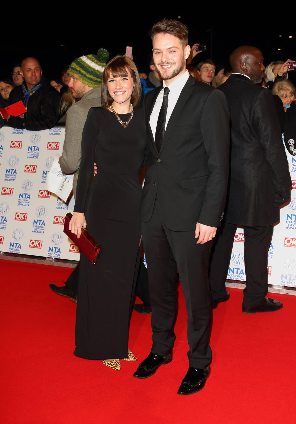 LONDON, ENGLAND - JANUARY 23: Cat Dresser and John Whaite attend the National Television Awards at 02 Arena on January 23, 2013 in London, England.  (Photo by Mike Marsland/WireImage)