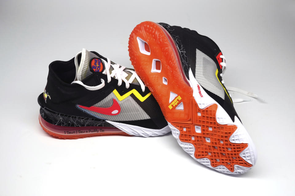 """Nike LeBron 18 low limited-edition """"Space Jam: A New Legacy"""" edition shoes. - Credit: AP"""