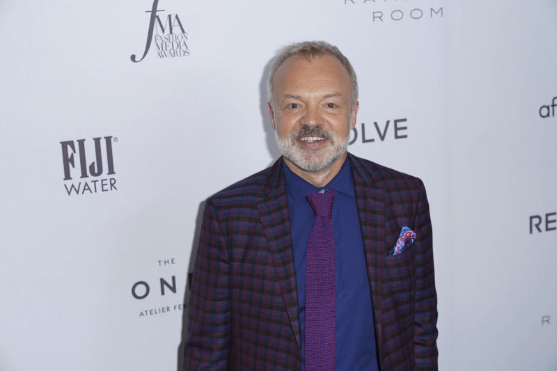 Graham Norton at the Daily Front Row's 2019 Fashion Media Awards at the Rainbow Room in New York City. (Photo: John Nacion/STAR MAX)